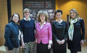 Les organisatrices Domenica Fortunato-Christiane Wickler (Présidente FFcel)-Joëlle Letsch-Netty Thines- Sylvie Martin-26-03-2015-003