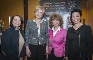 Les organisatrices ave la Secrétaire d'Etat Mme Françine Closener